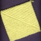 NEW,  handmade crocheted hot pad and hanging towel, YELLOW