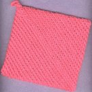 Handmade hanging towel crocheted hot pad dishcloth PINK new