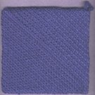 NEW handmade crocheted hot pad dishcloth and hanging towel BLUE
