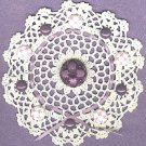 Crocheted  doily  with  vintage  BUTTONS