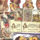 Gift tags and various stickers , Victorian repo's