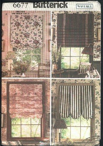 Butterick Waverly window shades pattern No. 6677