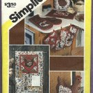 Simplicity pattern, set of kitchen accessories, pattern No. 6144