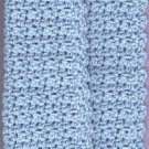 Dishcloth handmade crocheted  4-ply cotton yarn blue 1 new