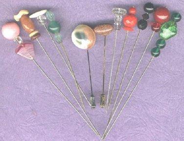 11 Vintage stick pins