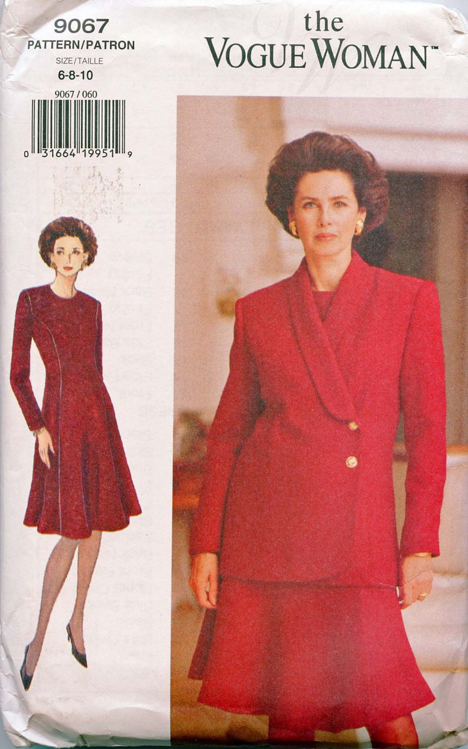 Vogue pattern Misses Jacket and Dress pattern NO. 9067