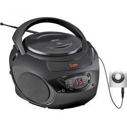 JWin Black Portable CD Player With AM/FM Radio