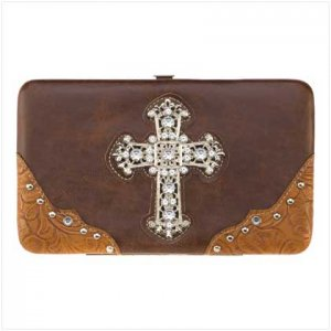 Jeweled Cross Fashion Wallet