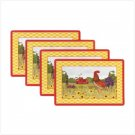 Rooster Vinyl Placemats-4 Pc.