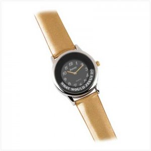 Wwjd Gold Metallic Watch