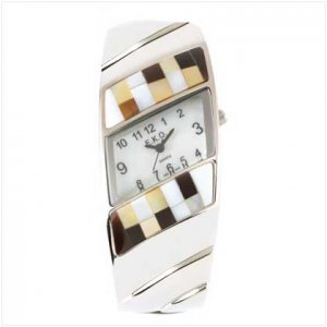 Shell Mosaic Bangle Watch