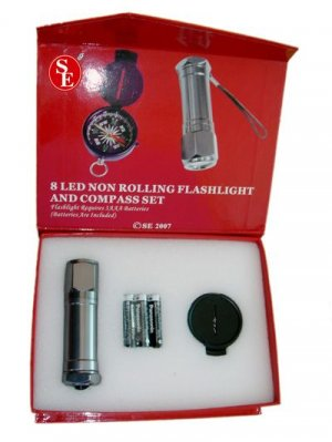 Gift Set Led Flashlight & Compass FL214CC