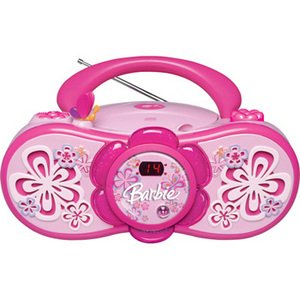 Emerson BAR201 Barbie Bloombox Portable CD Boombox with AM/FM Radio