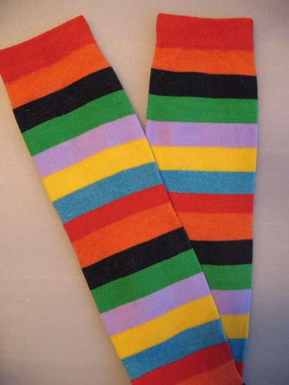 Rainbow Stripe Leggie Weggies, Baby Leg Warmers