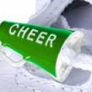 2pc Cheerleading Megaphone shoe charm set