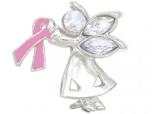 Breast Cancer Awareness ANGEL BY MY SIDE pin -W4435P