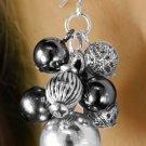 Womens Jewelry Earring & Necklace set 3-tone bead drop