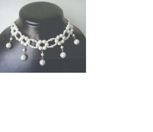 Fashion handmade wedding pearl necklace bridal jewelry