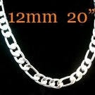 MENS Necklace,925 Silver 6 MM Wide Necklace Fashion Jewelry Silver Necklace