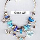 Glass Bead designer style European charm Bracelet
