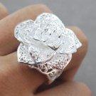 womens ring 925 sterling silver flower finger rings