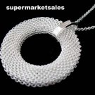 Womens accessories 925 sterling silver Mesh cirque Necklace Free shipping