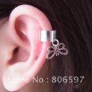 ear cuff earrings .925 silver butterfly & heart