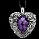 925 sterling silver Amethyst heart necklace pendant
