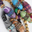Bracelet Wooden Bead & Coconut shell W Marble Block