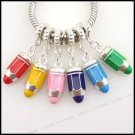 Bullet Shape Charm Pendant Fit European Bracelet 36pcs/lot
