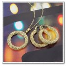 14k gold plated jewelry sets Necklace earrings Fashion women's jewlery set
