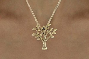 Tree Of Life Charm Necklace GOLD tone FREE shipping