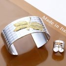 925 Sterling Silver Fashion Jewelry Set Bangle & Ring dragonfly FREE SHIPPING