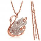 18K gp SWAN Necklace elegant fashion jewelry