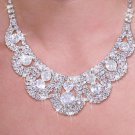 Bridal Jewelry Genuine Austrian Crystals Necklace Earrings set