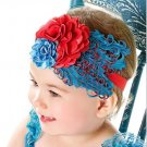 Infant Baby Toddler FH07 Feather Flower Diamond Soft Headband Headwear Hair Band
