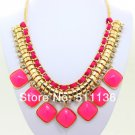 Chunky Pink CANDY color resin Fashion Necklace fashion jewelry