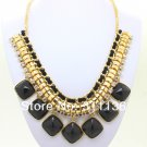 Chunky Black CANDY color resin Fashion Necklace fashion jewelry