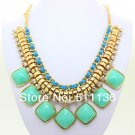 Chunky turquoise CANDY color resin Fashion Necklace fashion jewelry