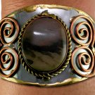 FASHION BRACELET Cuff Bracelet BROWN Lead Free Handmade