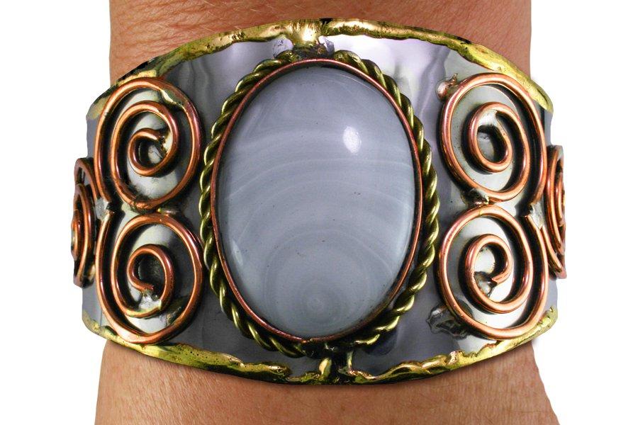 FASHION BRACELET Cuff Bracelet BRIGHT white OVAL Lead Free Handmade