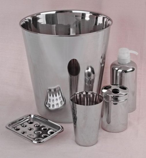 Stainless Bathroom Accessory Set by Steeltex