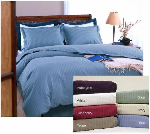 600 tc Supima Cotton Stripe Duvet Cover Set