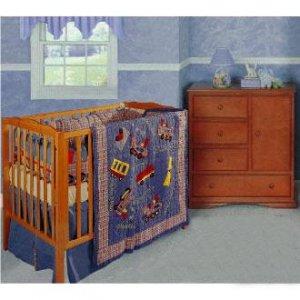 Lil Choo Choo 4-piece Patchwork Crib Set