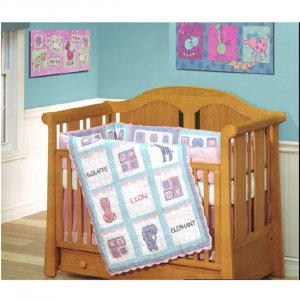 Circus Circus 4-piece Patchwork Crib Set