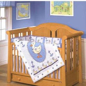 Our Little Sailor 4-piece Patchwork Crib Set