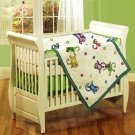 Monkey See, Monkey Do 4-piece Patchwork Crib Set