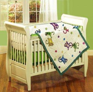 Monkey See, Monkey Do 4-piece Patchwork Crib Set