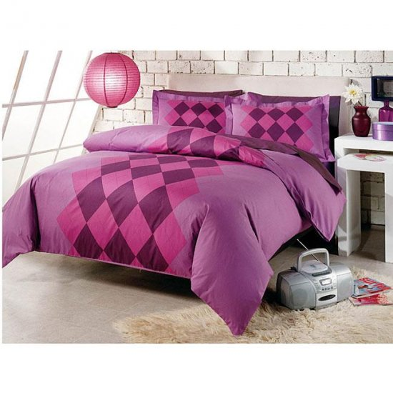 Argyle Duvet Cover Set-Twin