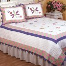 Bugs & Butterflies Cotton Patchwork Twin Quilt Set FREE MINI LAVA LAMP